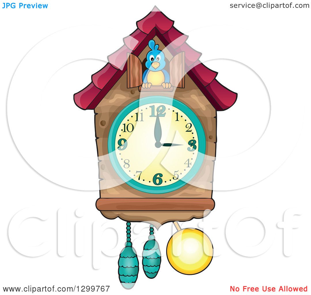 1080x1024 Clipart Of A Bird In A Cuckoo Clock