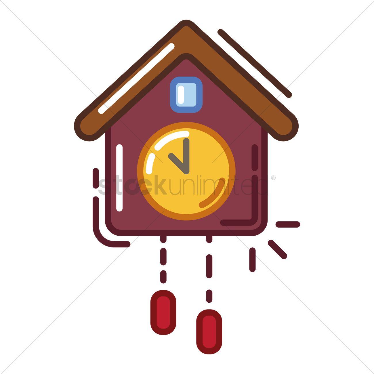 1300x1300 Cuckoo Clock Vector Image