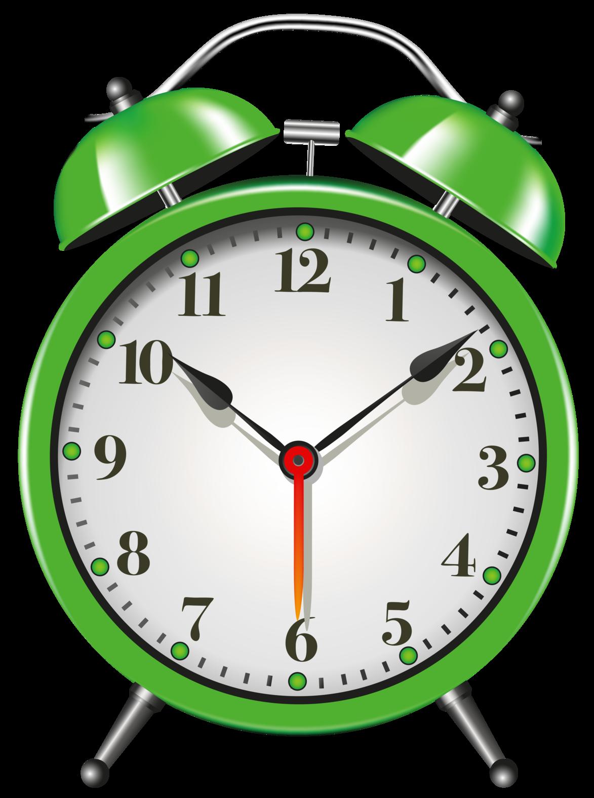 1173x1576 Green Alarm Clock Png Clip Art