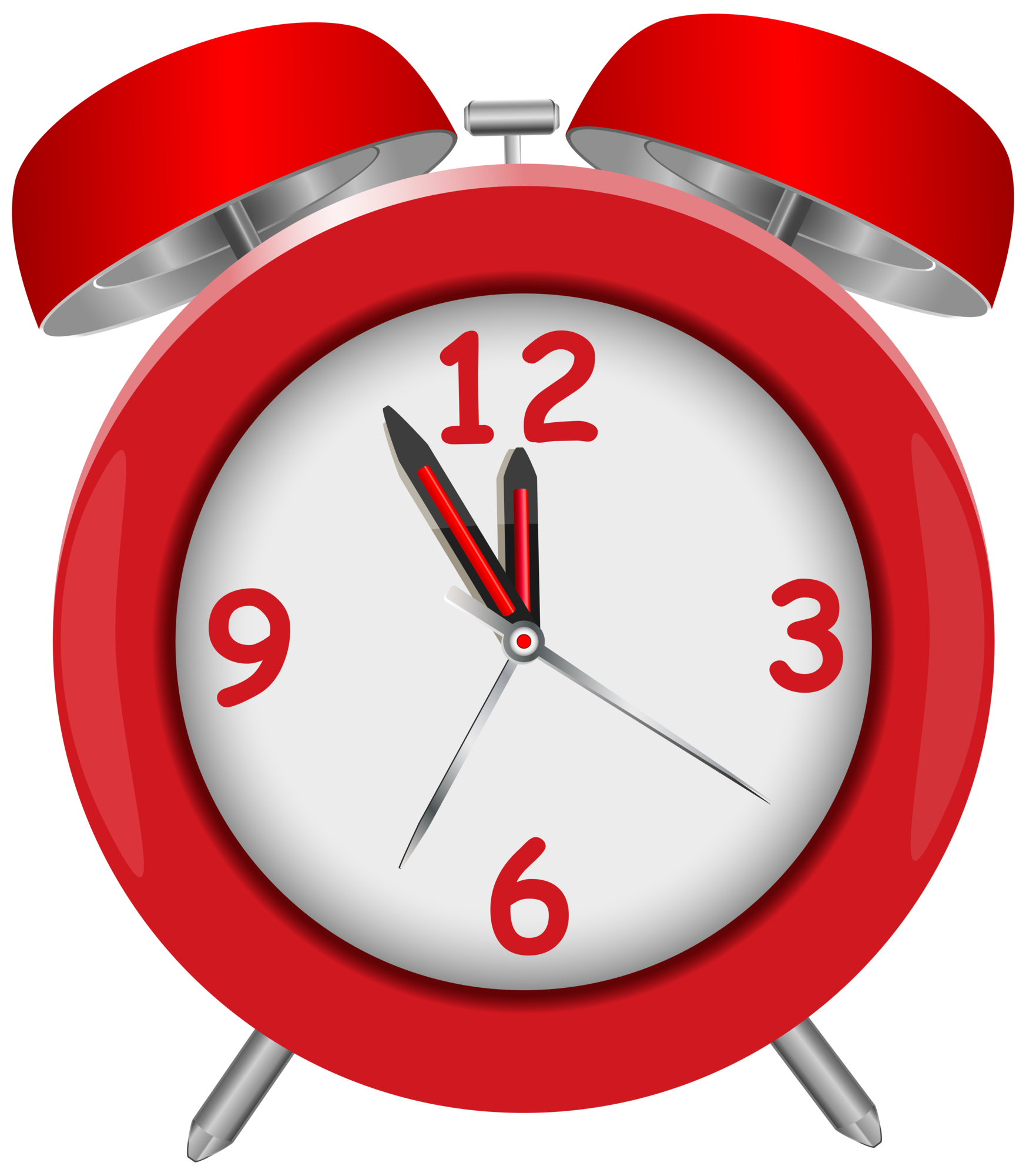 1746x2000 Red Alarm Clock Red Png Clip Art