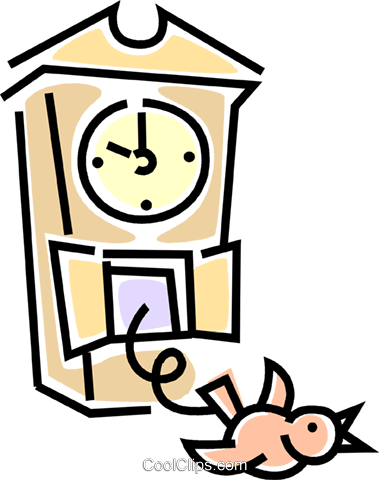 379x480 Cuckoo Clock Royalty Free Vector Clip Art Illustration Vc045813