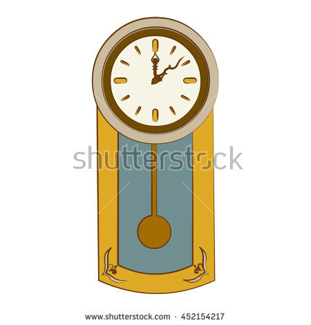450x470 Wall Clock With Pendulum Clipart