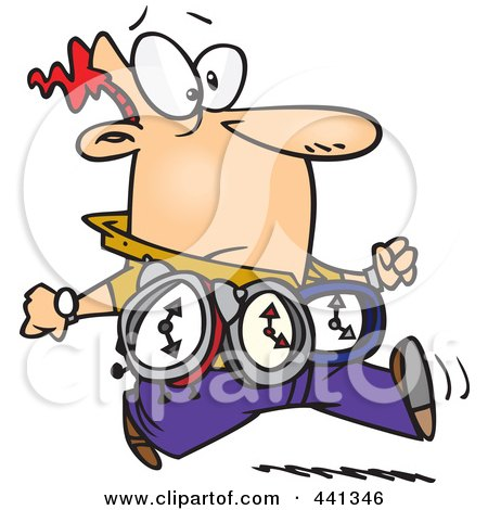 450x470 Cartoon Clipart Of A Happy On Time Caucasian Girl Running