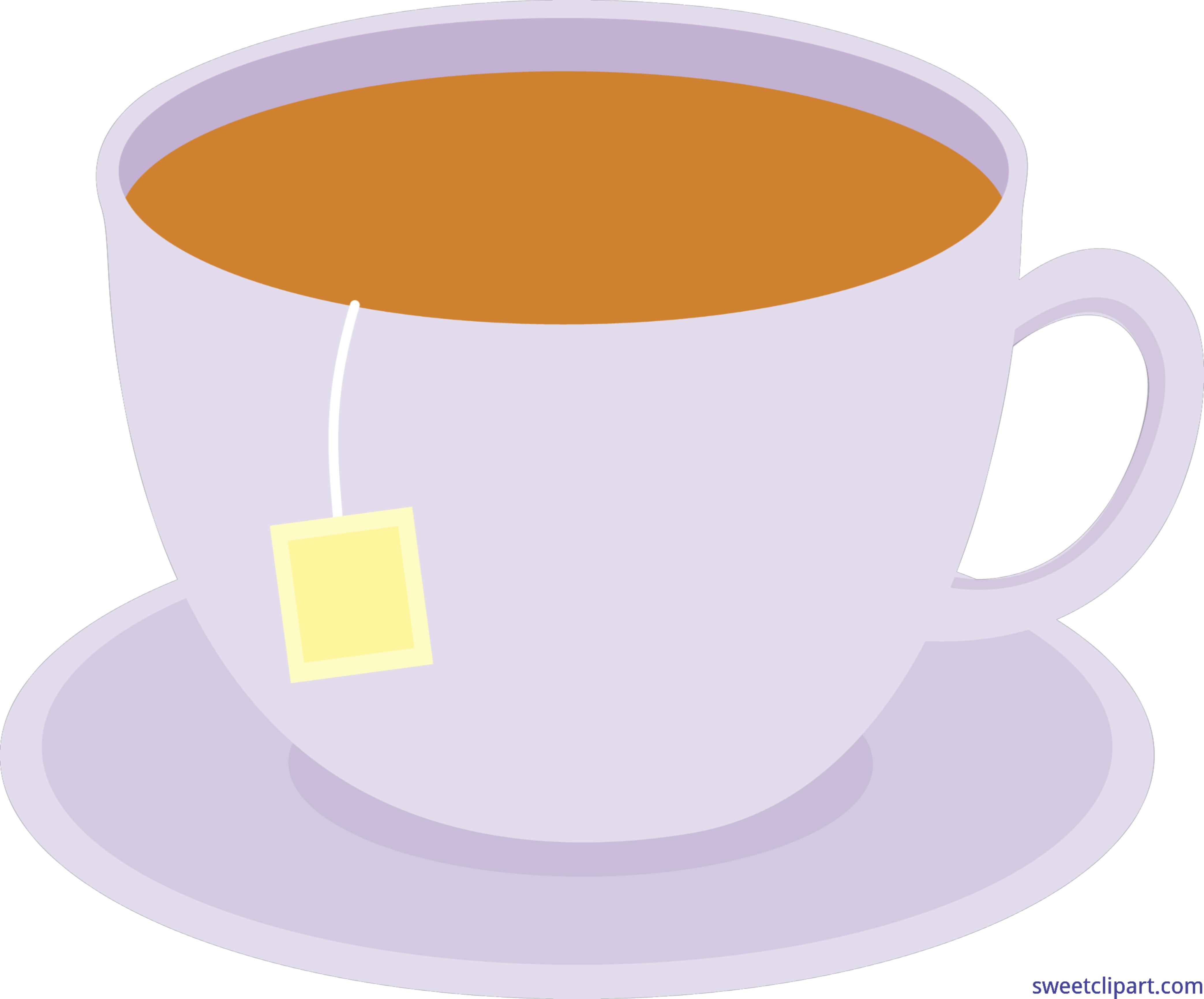 4173x3462 Cup Of Tea On Dish 1 Clip Art