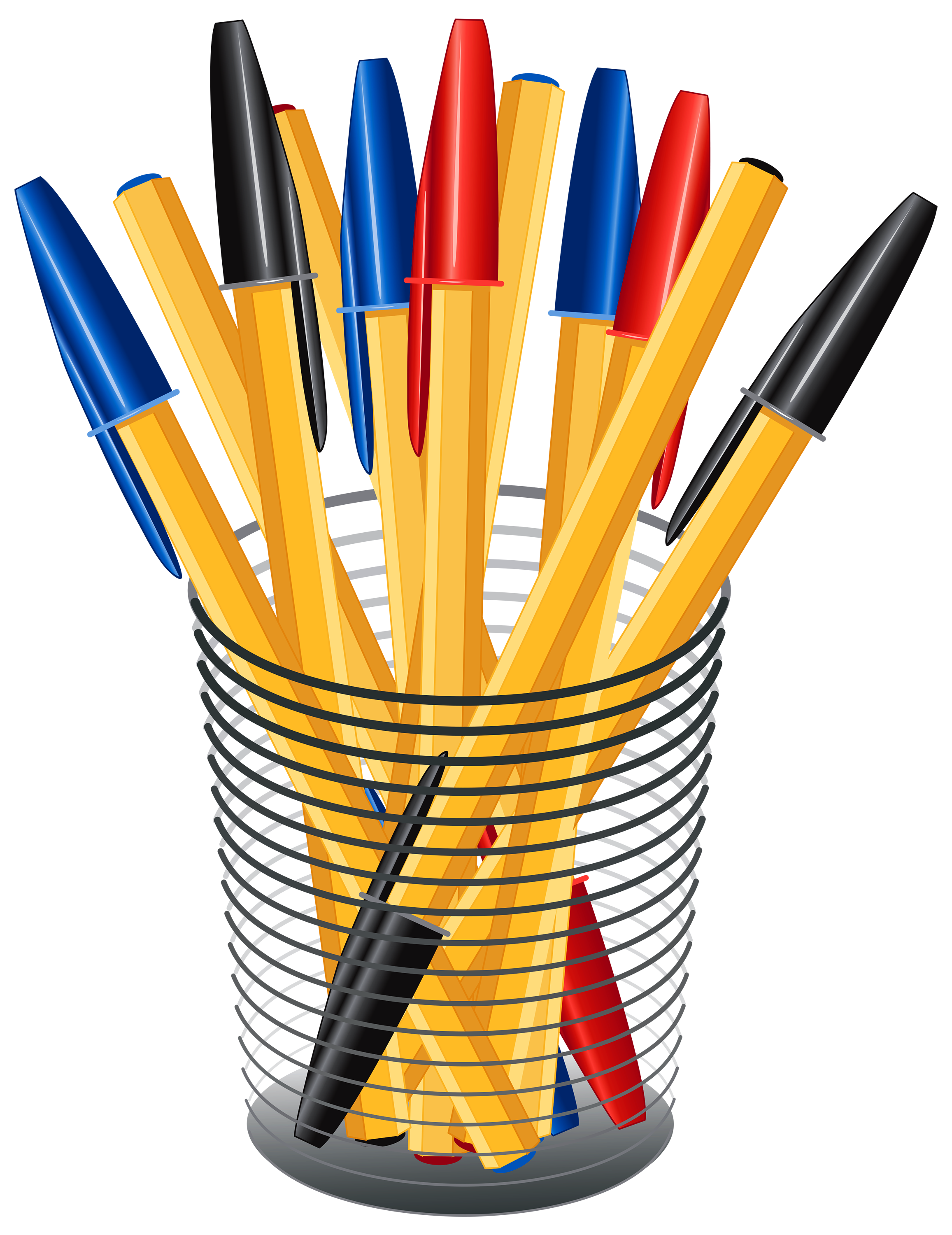 2313x3000 Metal Cup With Pens Png Clip Art