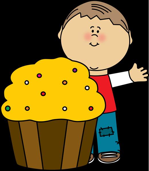 521x600 Boy With A Cupcake Clip Art