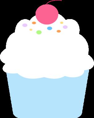 304x383 Colorful Cupcake Clip Art