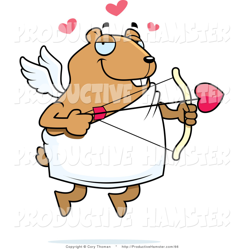 1024x1044 Clip Art Of A Pet Hamster Cupid By Cory Thoman