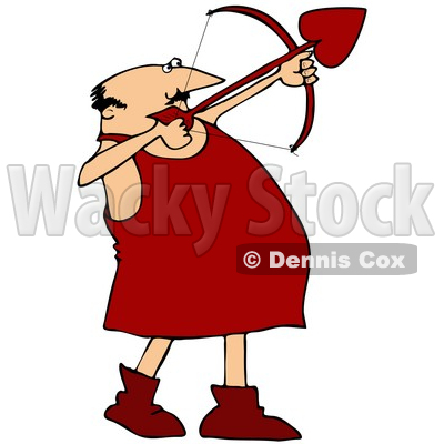 400x400 Clipart Illustration Of Chubby Male Cupid In Red Boots,iming