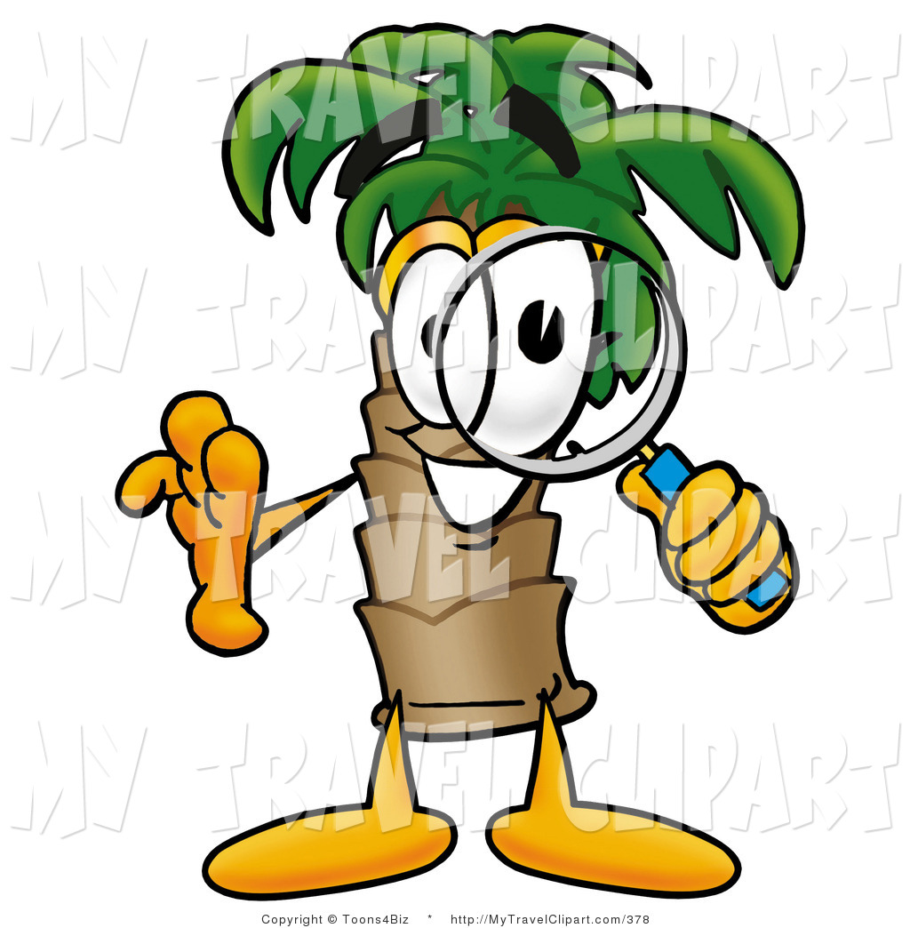 1024x1044 Clipart Of A Curious Palm Tree Mascot Cartoon Character Looking