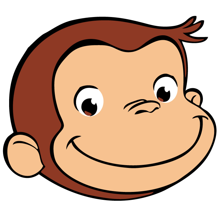 720x720 Entracing Curious George Images Free Printable Monkey Clip Art