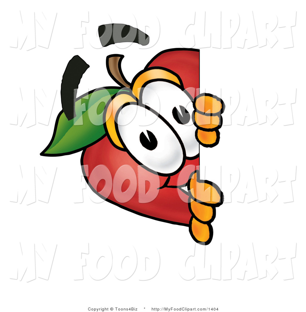 1024x1044 Food Clip Art Of A Curious Red Apple Character Mascot Peering