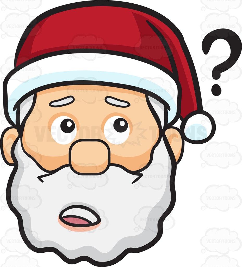 929x1024 A Curious Face Of Santa Claus Cartoon Clipart Vector Toons