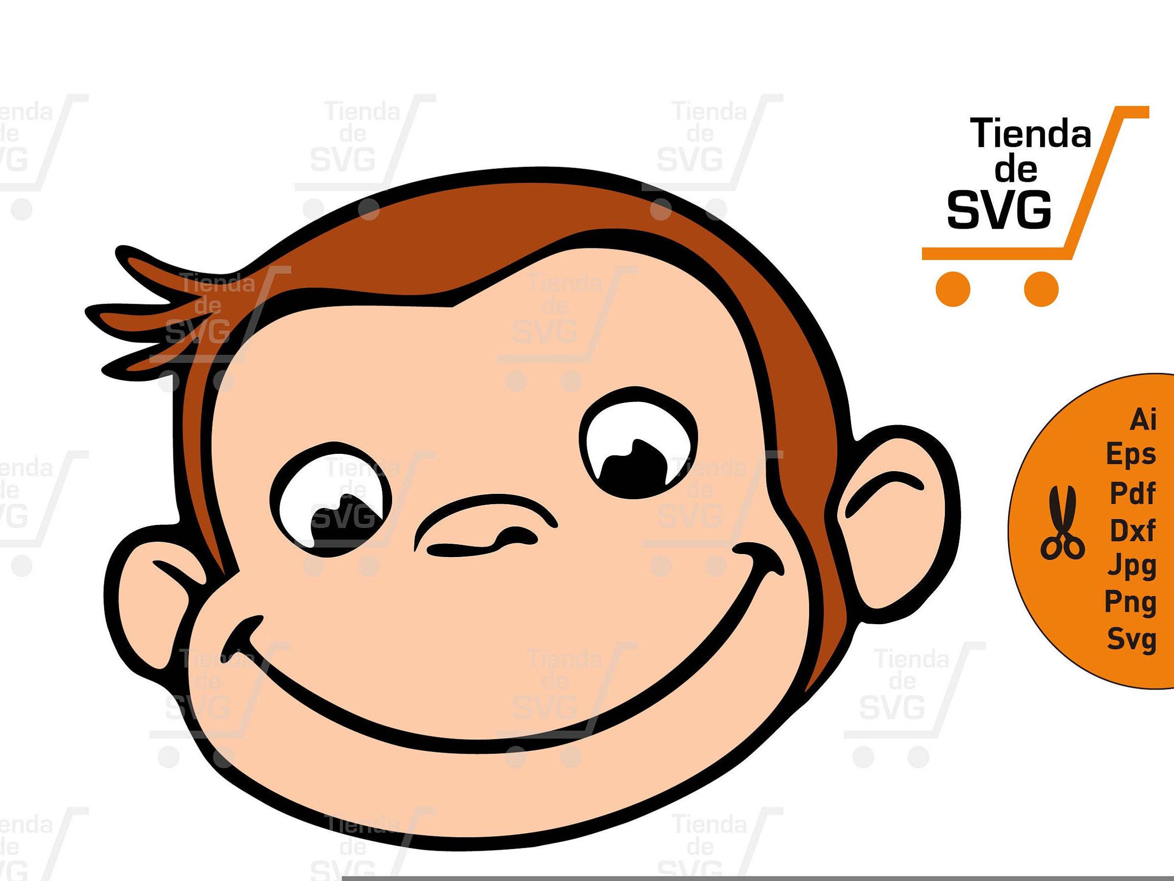 2377x1784 Curious George Svg File, Monkey Faces Svg, Jorge El Curioso Svg