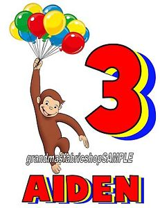 231x300 Curious George Personalized Birthday T Shirt