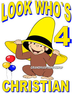 232x300 New Personalized Custom Curious George Birthday T Shirt Add Name