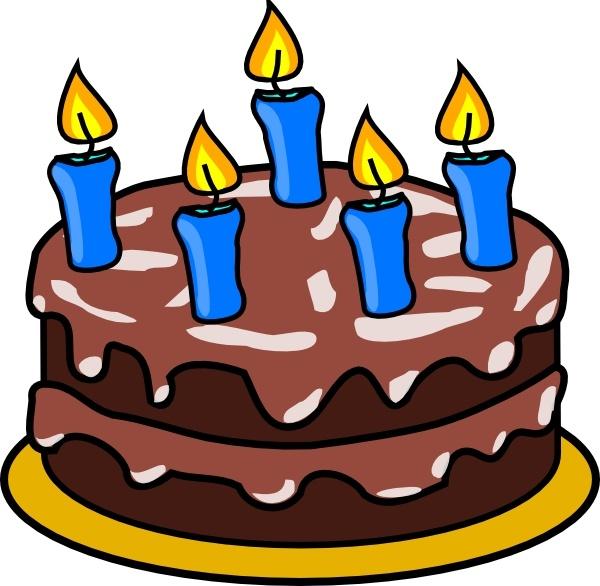 600x586 Birthday Cake Clip Art