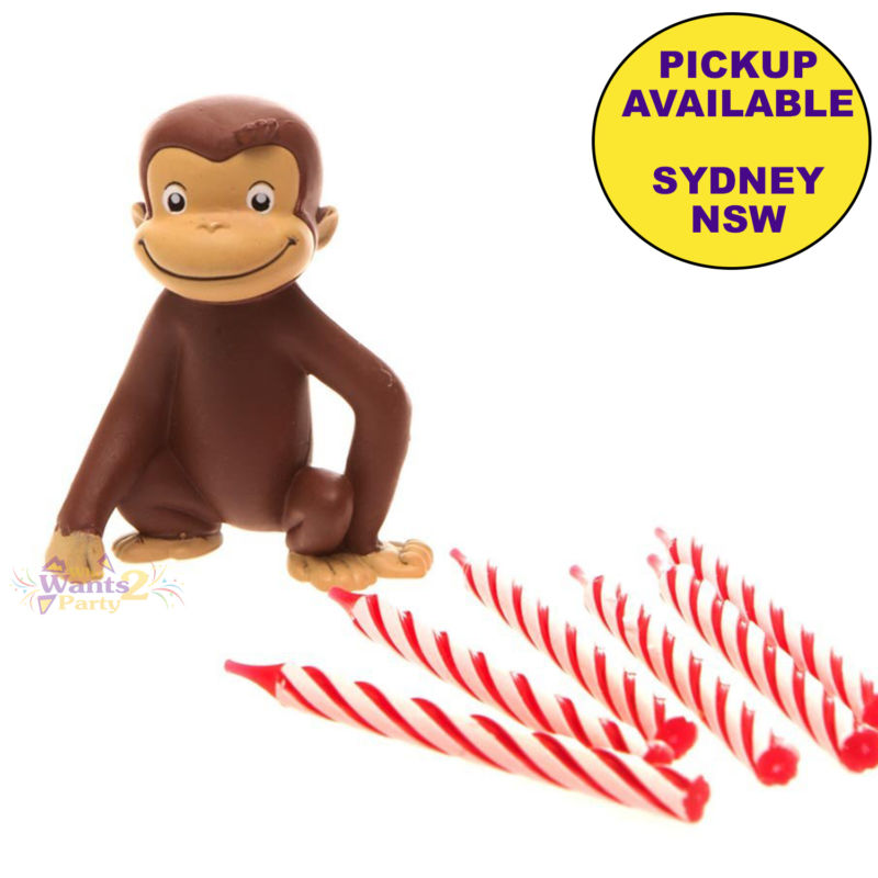 800x800 Curious George Birthday Party Supplies Cake Decoration Topper