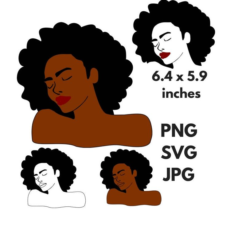 Curly Hair Clipart