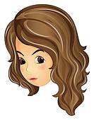 133x170 Brown Curly Hair Clipart