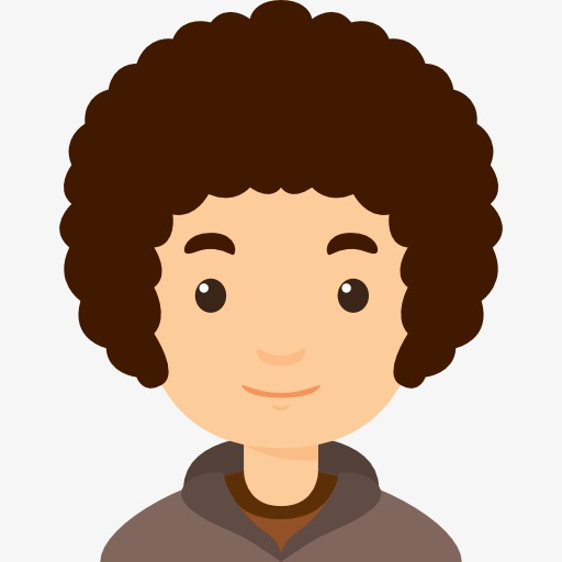 512x512 Curly Boy, Natural Volume, Hair, Schoolboy Png Image And Clipart