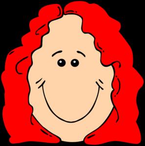297x298 Curly Hair Cartoon Clipart