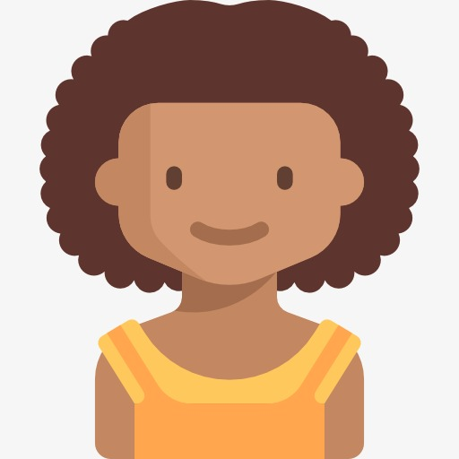 512x512 Curly Hair Girl, Girl, Curls, Cartoon Png Image And Clipart