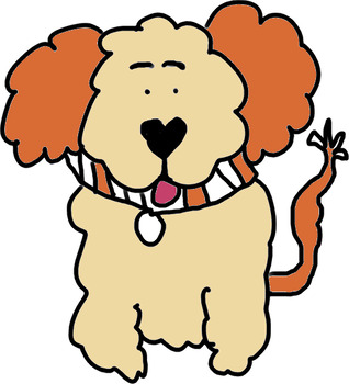 318x350 Curly Hair Dog Clip Art Colors And Fun Puppy Teachers By Ec Everyday