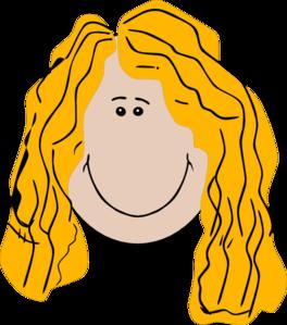 264x299 Long Hair Girl Clip Art