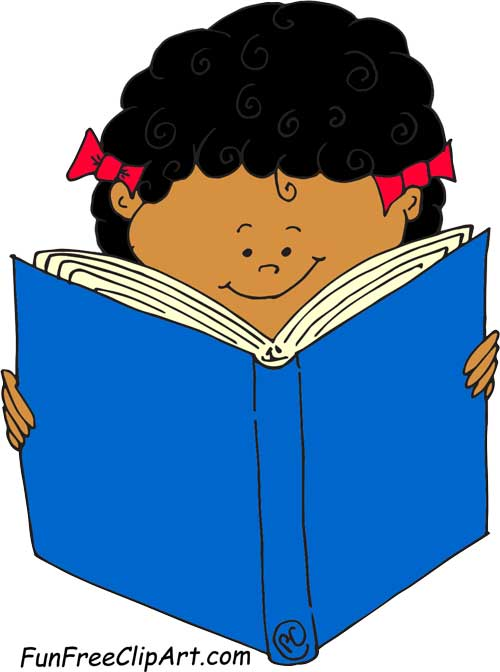 500x672 Curly Hair Girl Reading Book