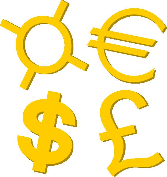 564x595 Gold Currency Symbols Clip Art Free Vector 4vector