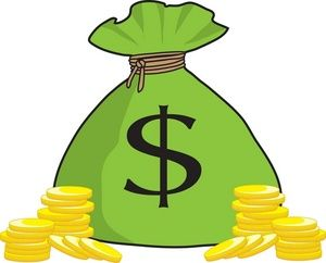 300x242 Money Bag Clip Art Money Bag Money Clipart