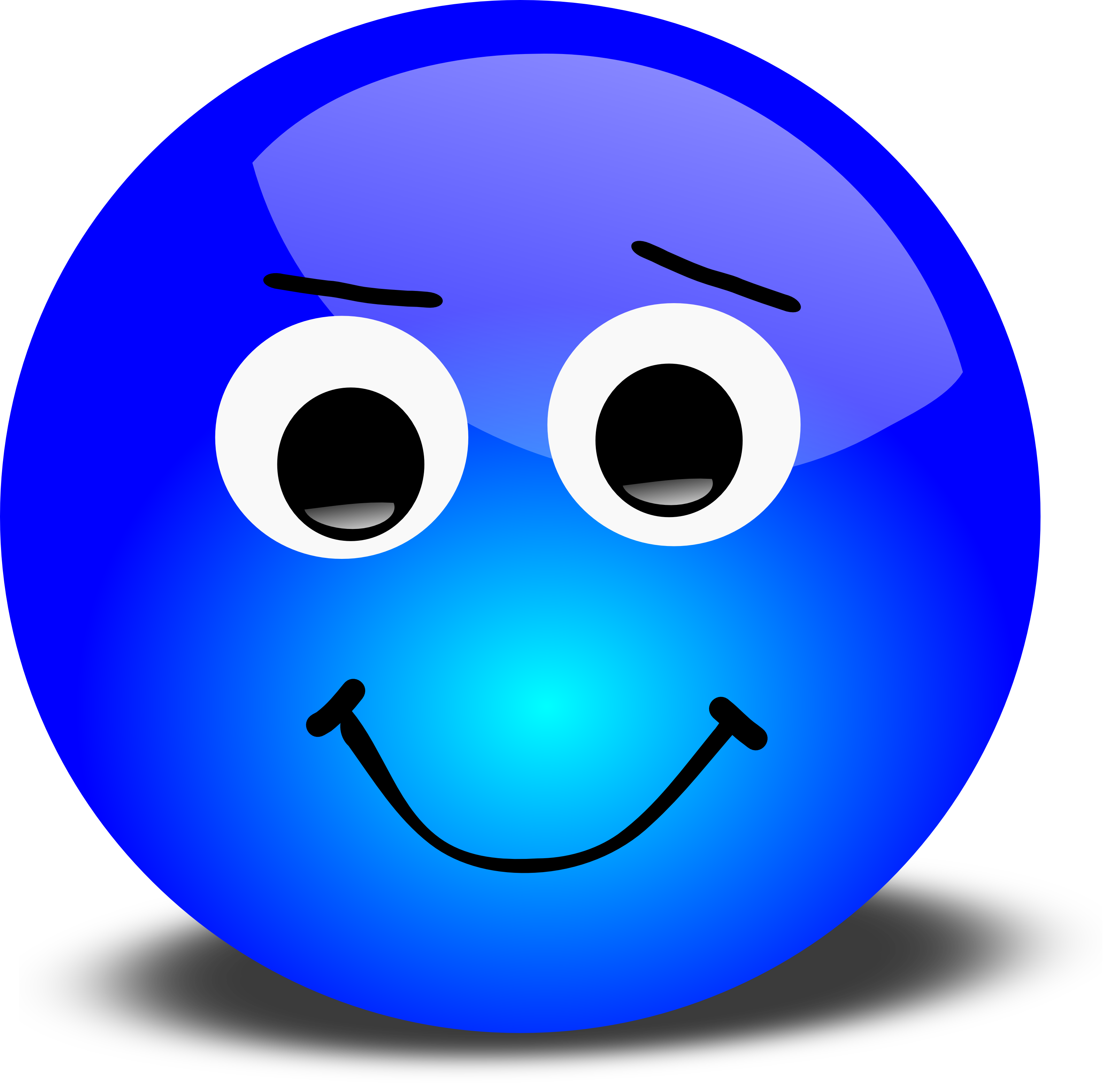 3200x3134 Free 3d Disagreeable Smiley Face Clipart Illustration