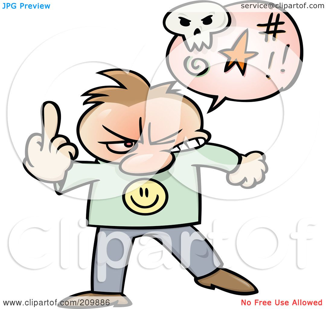 1080x1024 Royalty Free (Rf) Clipart Illustration Of An Angry Toon Guy