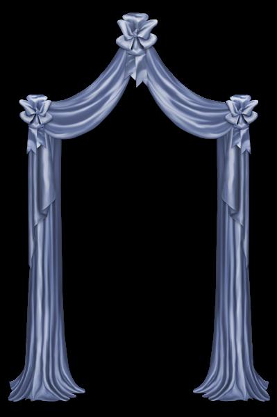399x600 Blue Curtain Decor PNG Clipart Picture Decorations Pinterest