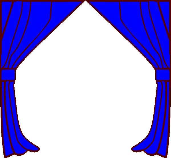 600x555 Curtains Clip Art