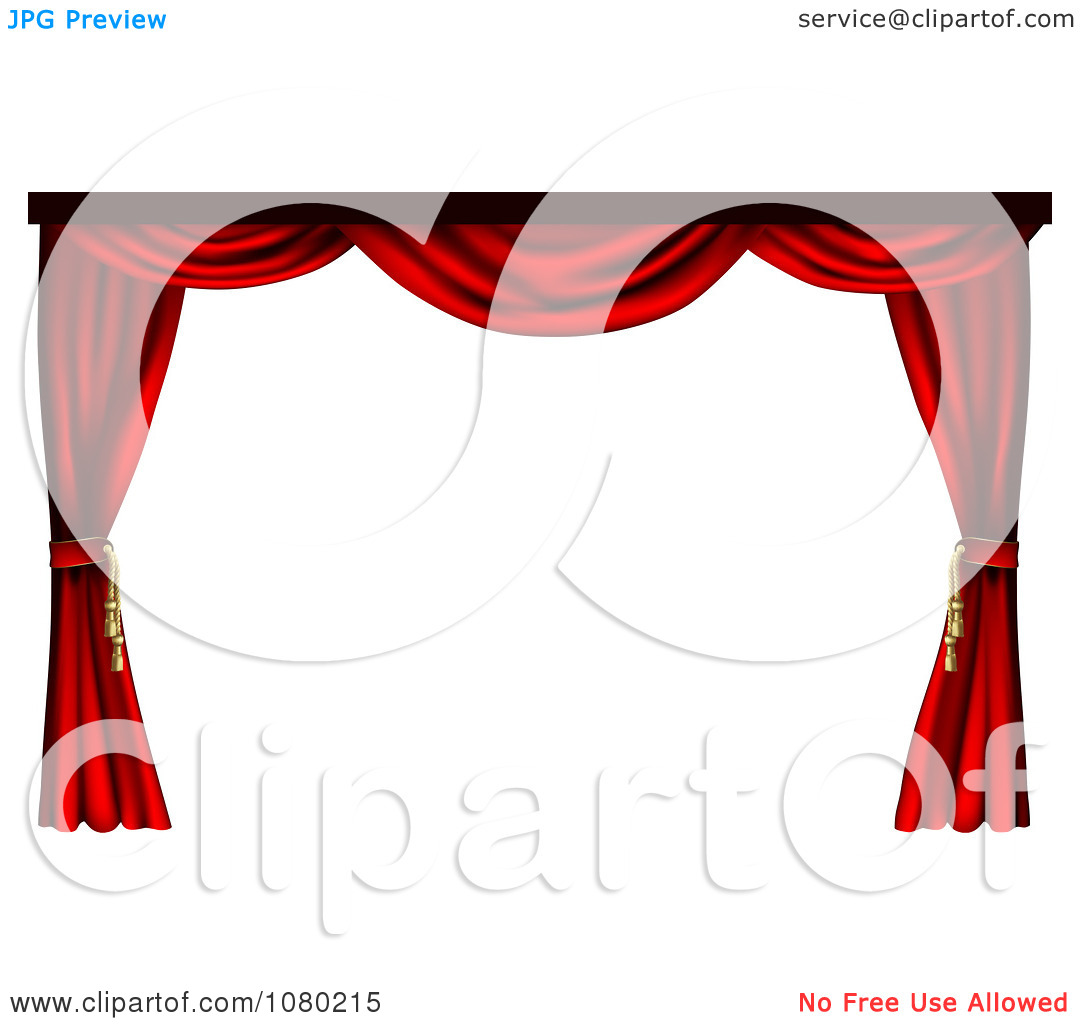 1080x1024 Theatre Curtains Clipart