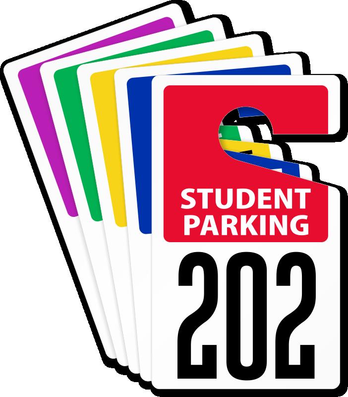702x800 Customizable Student Parking Permits