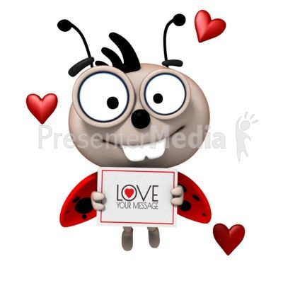 400x400 Customize The Sign This Cute Ladybug Is Holding With Your Own