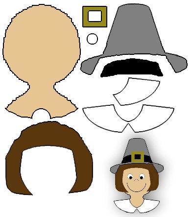 394x443 Pilgrim Clipart Puritan