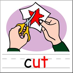 304x304 Clip Art Basic Words Ut Phonics Cut Color I