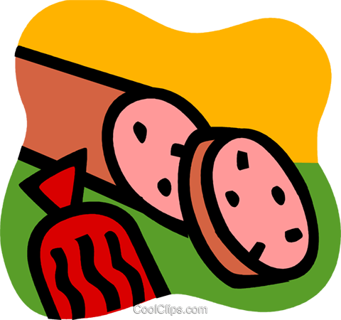 480x450 Cold Cuts Royalty Free Vector Clip Art Illustration Vc107623