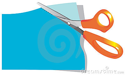 400x240 Scissors Cutting Paper Clipart
