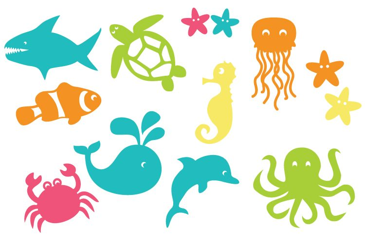 750x500 Under The Sea Cut Files And Clip Art