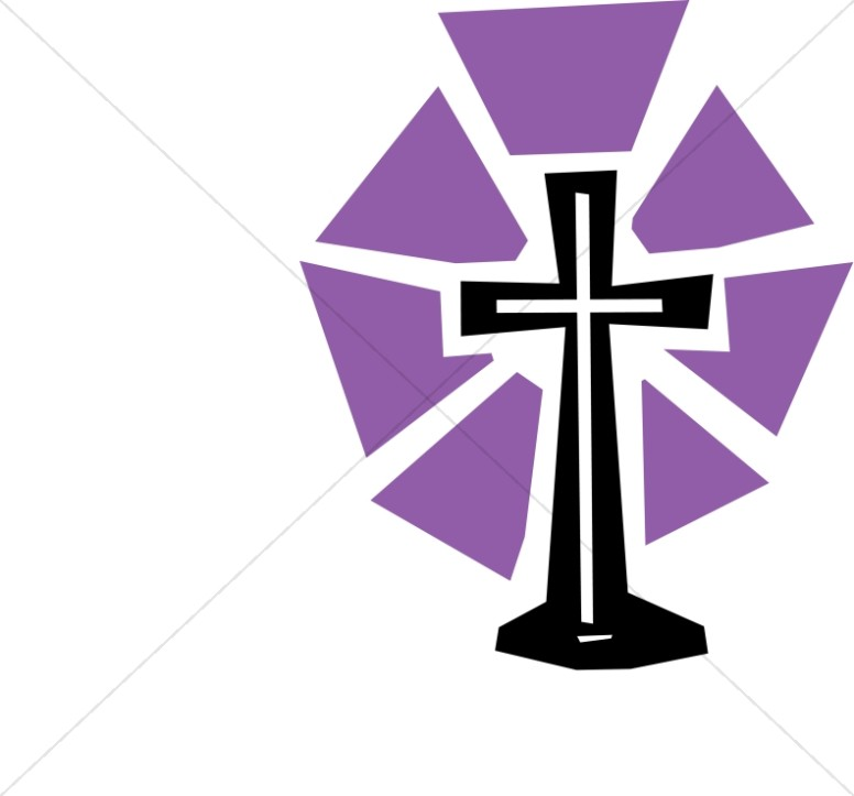 776x723 Cut Out Cross With Purple Shine Lent Clipart