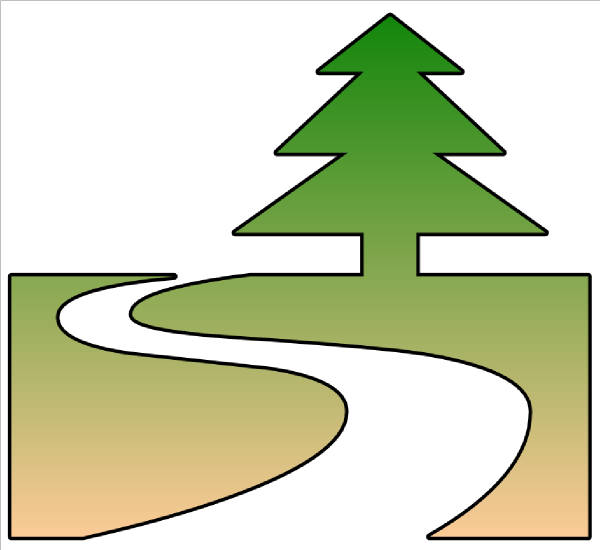 600x550 Trail Clipart Nature Trail Cutout Clip Art