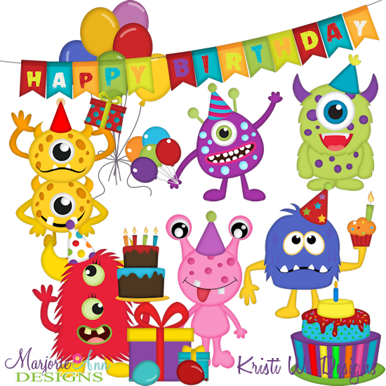 550x550 Birthday Monsters Svg Mtc Png Plus Jpg Cut Out Sheet(S) Our Sets
