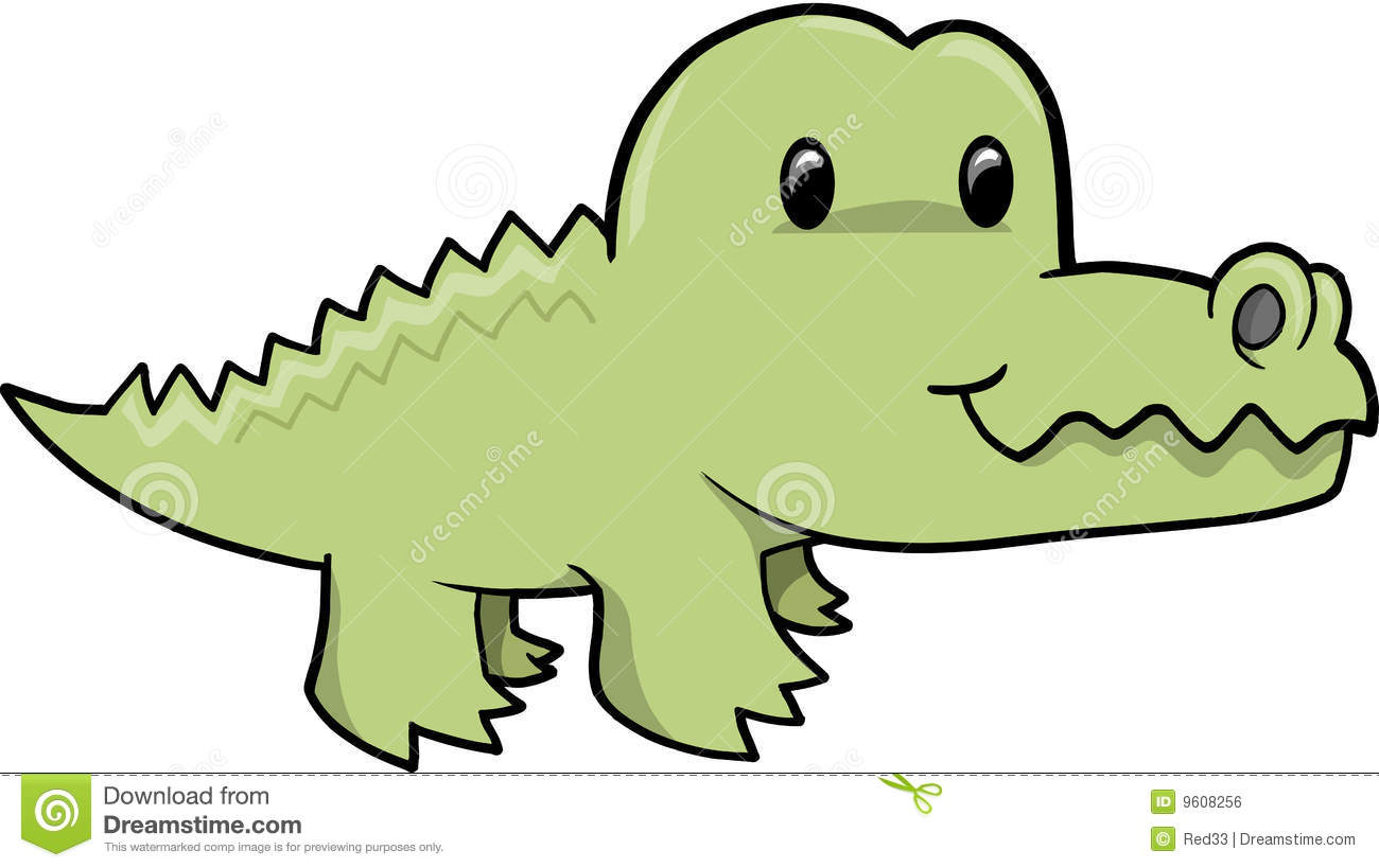 Cute Alligator Clipart