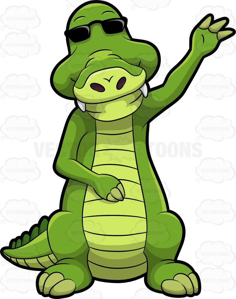 806x1024 Arthur The Alligator Waving Hello Cartoon Clipart Vector Toons