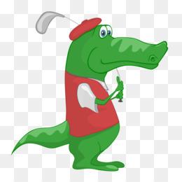 260x260 Crocodile Golf Balls Golf Clubs Clip Art